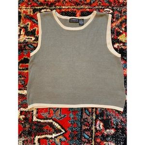Vintage Cropped Knit Top